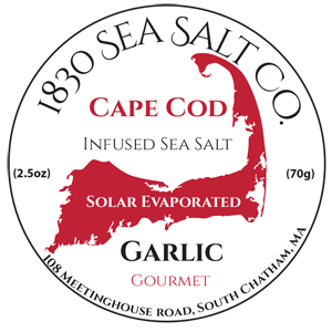Garlic Sea Salt by 1830 Sea Salt located on Cape Cod